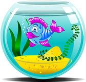 Blue aquarium — Stock Vector