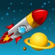Rocket moon — Vettoriali Stock