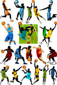 Collection of basketball stars — Stock Vector