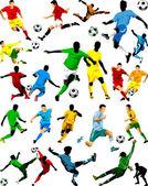 футбол, лучшие из лучших — Cтоковый вектор