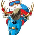 Santa Claus a motorbike — Stock Vector #8185846