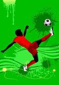 Soccer combination — Stock Vector