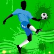 Royalty-Free Stock Imagen vectorial: Penalty kick;