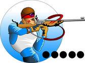 Biathlon — Stock Vector