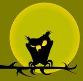 Coruja de halloween — Vetorial Stock