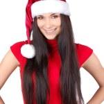 mutlu Noel kadın izole — Stok fotoğraf