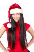 Young Happy Christmas Woman isolated — Stock Photo