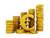 Goldener euromünzen — Stockfoto
