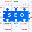 SEO puzzle graphic - Stock Photo
