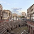 Roman Amphitheatre in Catania — Stock Photo #8105229