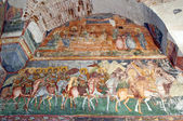 Byzantine fresco in old christian orthodox church — Foto Stock