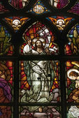 Stained glass picturing Jesus Christ — Stock Photo