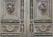 Detail of wooden door — Foto Stock