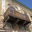 Stock Photo: Decayed art nouveau building