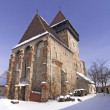 Stock Photo: Fortified church in TransylvaniRomania