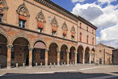 Santo Stefano piazza in Bologna — Stock Photo