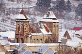 Fortified church in Transylvania Romania — Stock Photo