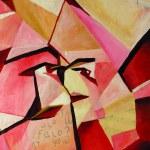 Original cubist painting — Stock Photo #8336938