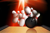 Bowling strike out — Stock Photo