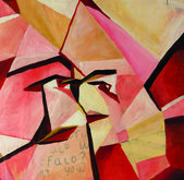 Original cubist painting — Stock Photo