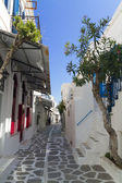 Parikia street in greek island Paros — Stock Photo