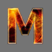 3d abstract and futuristic letter - M — Stock Photo