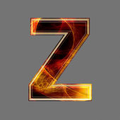 3d abstract and futuristic letter - Z — Stock Photo