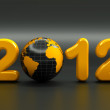 3d new year 2012 shape — Stock Photo