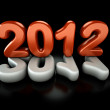 3d new year 2012 — Stock Photo
