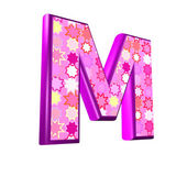 3d pink letter isolated on a white background - m — Stock Photo