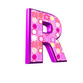 3d pink letter isolated on a white background - r — Stock Photo