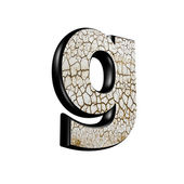 Abstract 3d letter with dry ground texture - G — Stock Photo