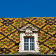 Colored roof tile in dijon city - France - Stock Photo