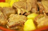 Traditional dish of lamb — Stock Photo