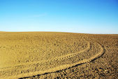 Ploughed field background — Stock Photo
