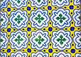 Portuguese tiles in old wall — Stock Photo