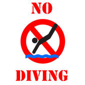No diving sign illustration — Photo