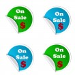 On sale stickers isolated — Stock Photo