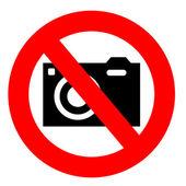 No camera sign — Stock Photo