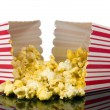 Buttered theater popcorn - Stock Photo