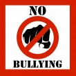 Stock Photo: No bullying sign illustration