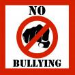 No bullying sign illustration — Stock Photo