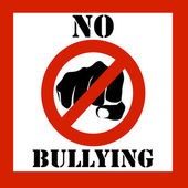 No bullying sign illustration — Stock Photo