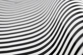 Black and white stripes with a graceful curve — Stock Photo