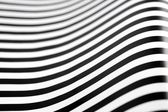 Black and white stripes curved — Stock Photo