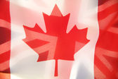 Flags of Canada and Great Britain — Stock Photo