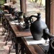 Antique sewing machines - Stock Photo