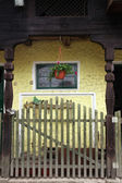 Detail of old wooden farmhouse — Stock Photo