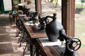 Antique sewing machines — Stock Photo