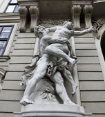 Hercules fighting Antaeus — Stock Photo